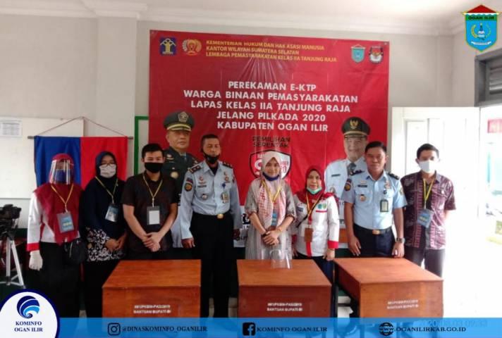 Perekaman E-KTP Warga Binaan Pemasyarakatan Lapas Kelas IIA Tanjung Raja