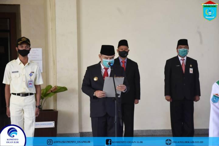 Pengukuhan Paskibraka Kab Ogan Ilir HUT Republik Indonesia ke-75