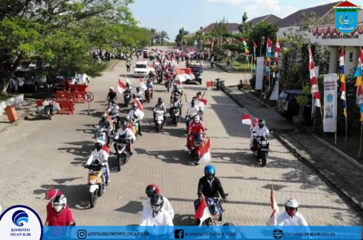 Pembukaan Kirab Pengibaran Bendera Merah Putih Forum Kades Sebagai Bentuk Rasa Cinta Tanah Air