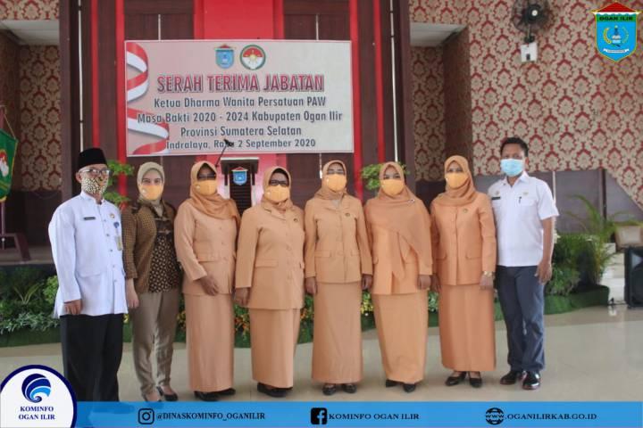 Serah Terima Jabatan Ketua Dharma Wanita Persatuan (PAW) Masa Bakti 2020-2024 Kabupaten Ogan Ilir
