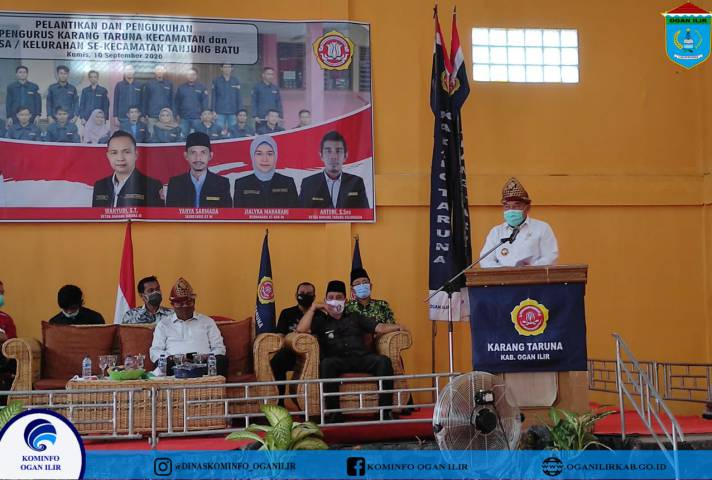 Lantik KT Tanjung Batu Dan Indralaya Selatan, Bupati OI: Pengurus dan  Anggota Turut Serta  Mensosialisasikan Program Pemkab OI