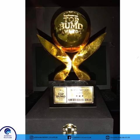 PDAM Tirta Ogan OI Terima Penghargaan Juara TOP BUMD AWARD 2020 STAR 3 Tingkat Nasional