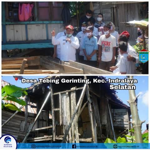 Realisasi Bantuan Program Bedah Rumah Dari Pemerintah Secara Simbolis Pada 5 Kecamatan Di Kab. OI