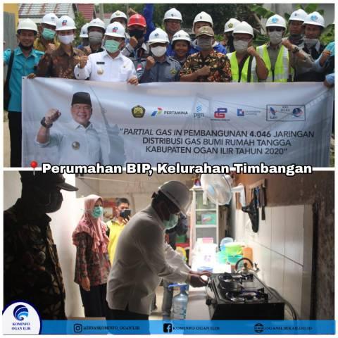 Partial Gas In Pembangunan 4.046 Jaringan Distribusi Gas Bumi Rumah Tangga Kabupaten Ogan Ilir Tahun 2020