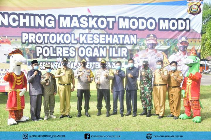Launching Maskot Modo Modi Protokol Kesehatan Polres Ogan Ilir