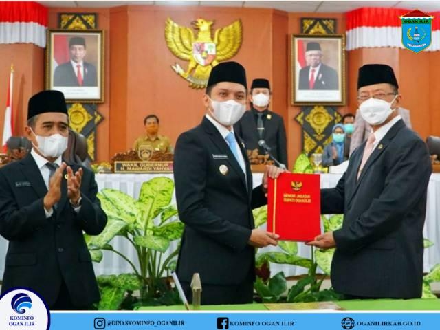Bupati Ogan Ilir Panca Wijaya Akbar Sampaikan Pidato Perdana di Depan Sidang Paripurna DPRD