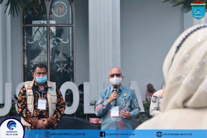 Pj sekda Meninjau Pelaksanaan SKD CPNS 2021 kabupaten Ogan ilir