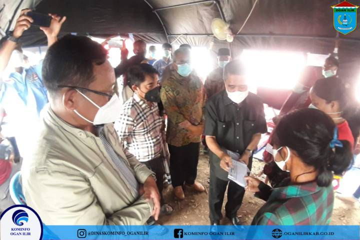Wabup OI Kunjungi korban kebakaran Rumah di desa ibul besar II kecamatan Pemulutan